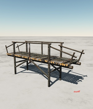 WOODEN BRIDGE for VUE 3D Models Domi48
