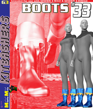 MMKBG3 Boots 033 3D Figure Assets MightyMite