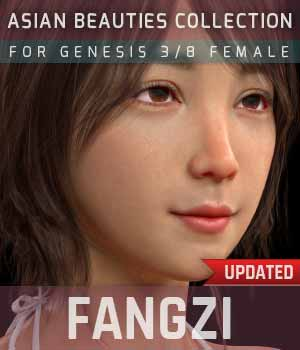 Fangzi G3G8F for Genesis 3 and 8 Female 3D Figure Assets gravureboxing