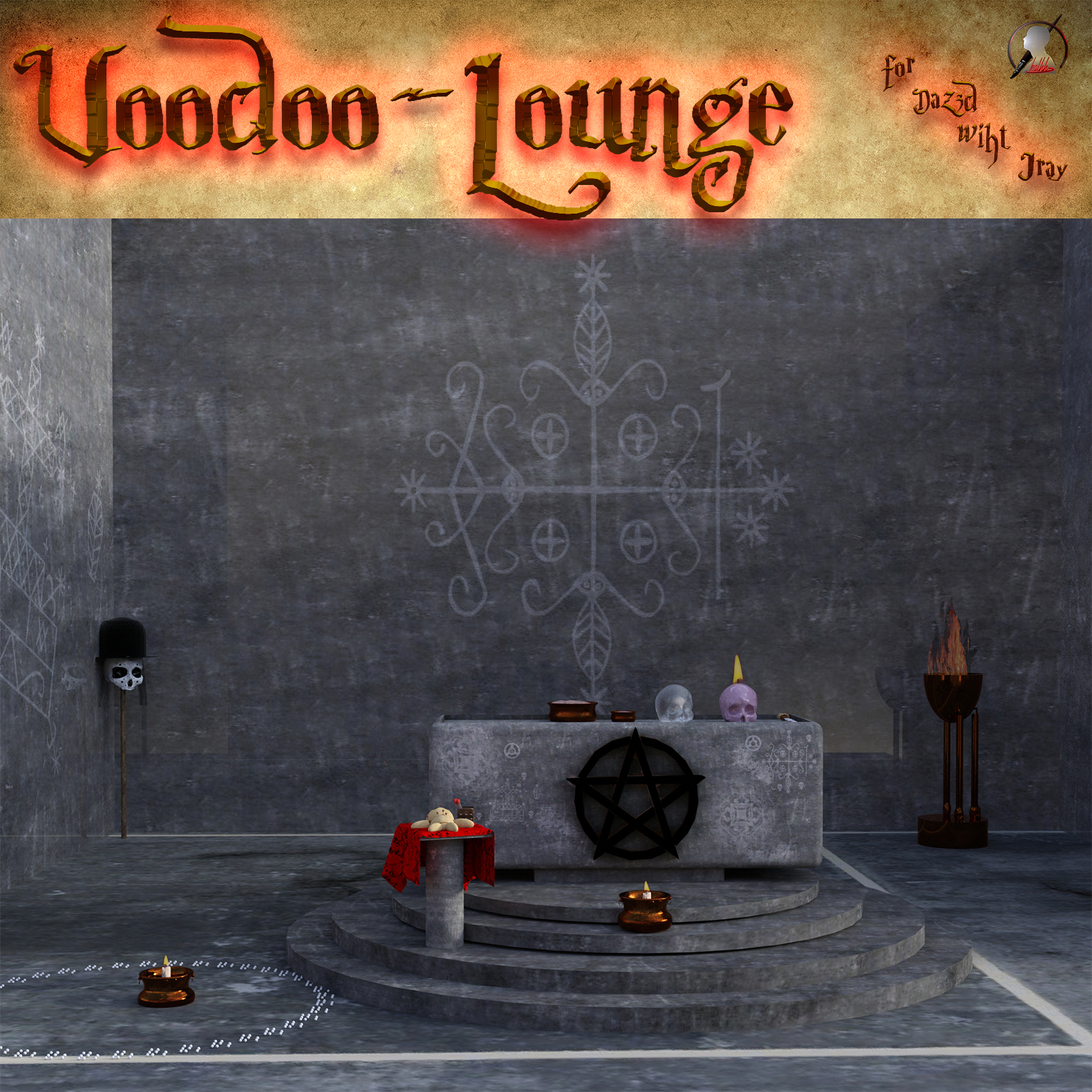 Voodoo Lounge scene for DAZ Studio Iray