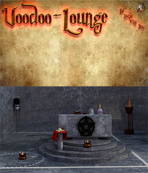 Voodoo Lounge scene for DAZ Studio Iray 3D Models kalhh