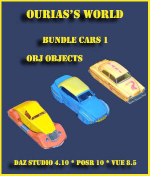 Ourias's world : bundle car 1 3D Models Ourias3D