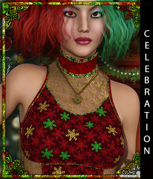 Celebration for Sweet Rebel 3D Figure Assets sandra_bonello