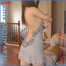 dForce Sexy Night Suit for Genesis 8 Female image 1