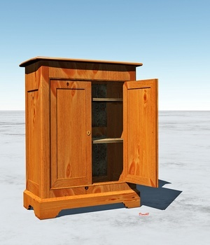 OAK WARDROBE 3D Models Domi48