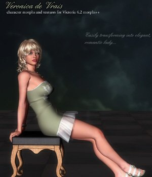 Veronica de Vrais V4 for Poser 3D Figure Assets VanishingPoint