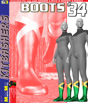 MMKBG3 Boots 034 3D Figure Assets MightyMite