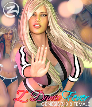 Z Dance Fever - Poses for Genesis 3 and 8 Females 3D Figure Assets Zeddicuss