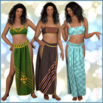 Loincloth Set and 10 Styles for Project Evolution - Poser image 2