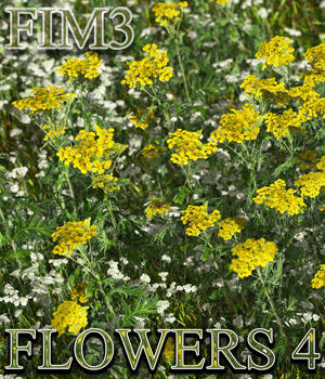 Flinks Instant Meadow 3 - Flowers 4 3D Models Flink