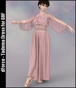 dForce - Tadema Dress for G8F 3D Figure Assets Lully