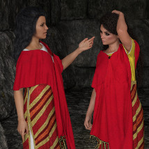 dForce Assyrian Outfit for Genesis 8 Female image 1