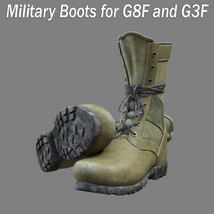 Slide3D Military Boots for G8F and G3F image 1