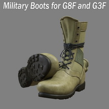 Slide3D Military Boots for G8F and G3F image 2