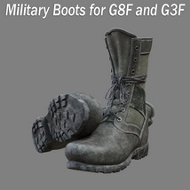 Slide3D Military Boots for G8F and G3F image 3