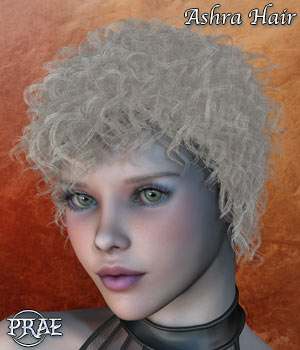 Prae Ashra Hair For V4 Poser 3D Figure Assets prae