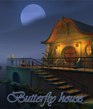 Butterfly house 3D Models 1971s