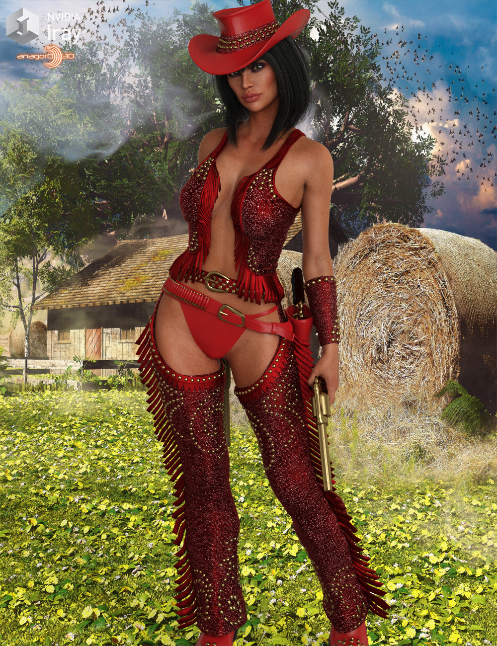 HEROINE - Fantasy CowGirl for G8 Females by Anagord