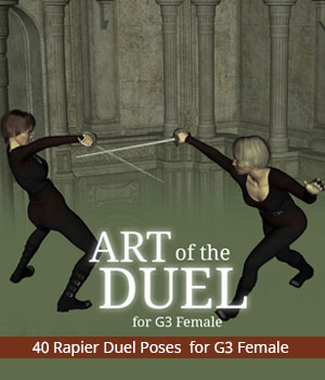 Art of the Duel for Genesis 3 Female 3D Figure Assets PainMD