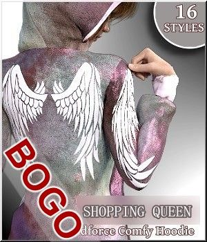 Shopping Queen - 16 Styles Comfy Hoody 3D Figure Assets LUNA3D
