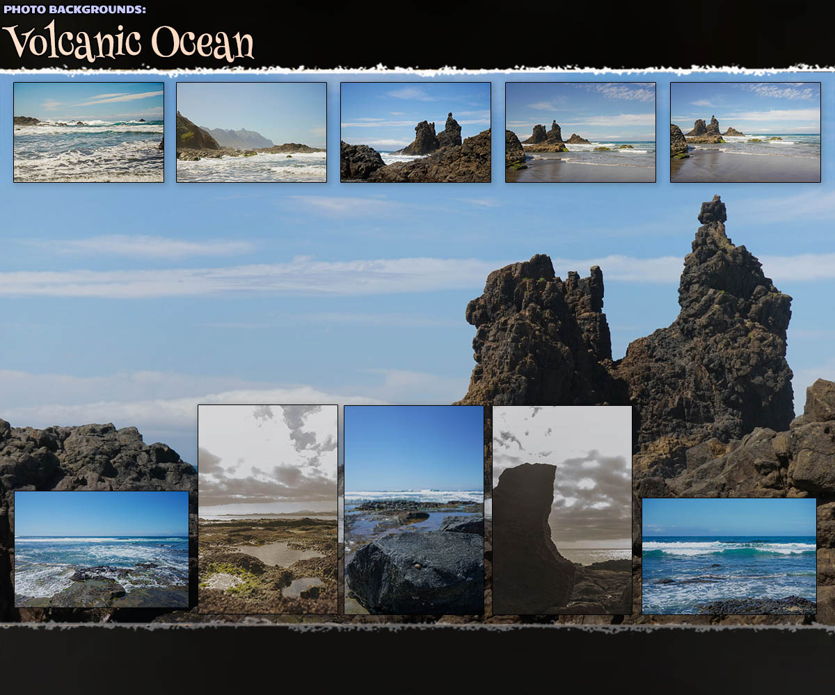 Photo Backgrounds: Volcanic Ocean by ShaaraMuse3D