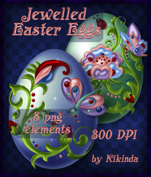 Jewelled Easter Eggs Elements 2D Graphics kikinda