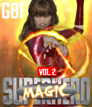 SuperHero Magic for G8F Volume 2 3D Figure Assets GriffinFX