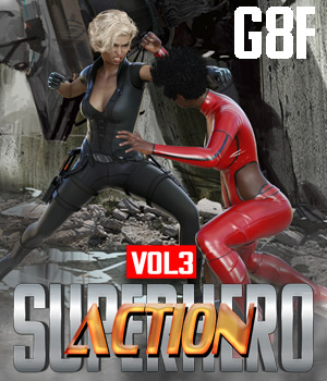 SuperHero Action for G8F Volume 3 3D Figure Assets GriffinFX