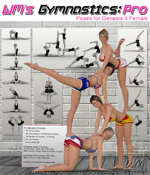 WM's Gymnastics: Pro Poses for Genesis 3 Female 3D Figure Assets WiwimaX