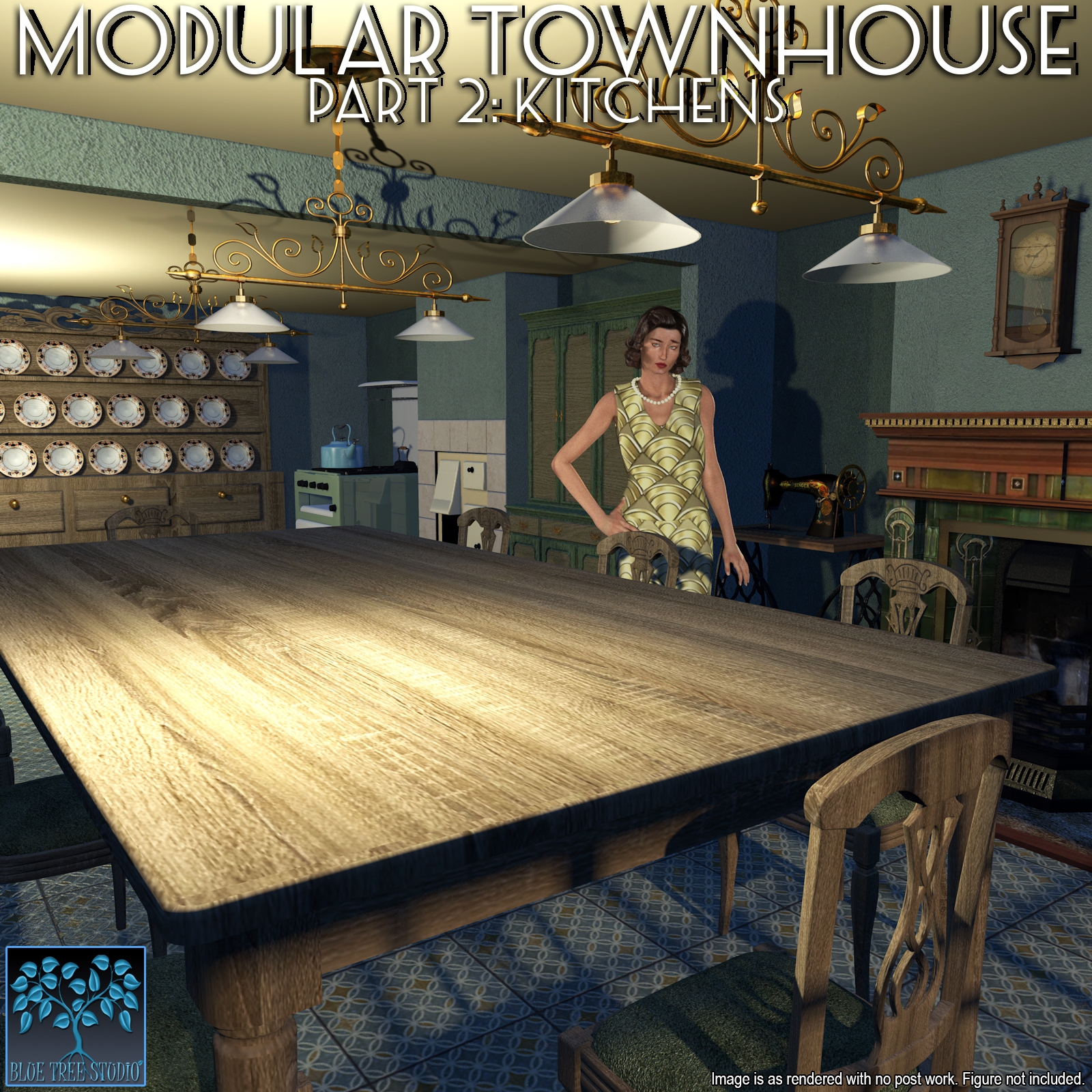 Modular Townhouse 2: Kitchens for Poser