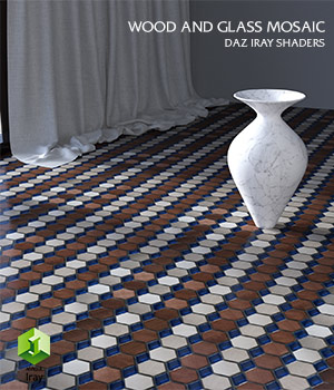 Wood_and_Glass_Mosaic :: Daz IRAY Shaders 3D Figure Assets Merchant Resources Cyrax3D