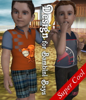 Design for Bambini Boys K4_Poser 3D Figure Assets JudibugDesigns