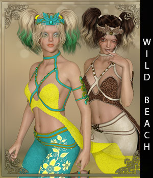 Wild Beach for Febe 3D Figure Assets sandra_bonello