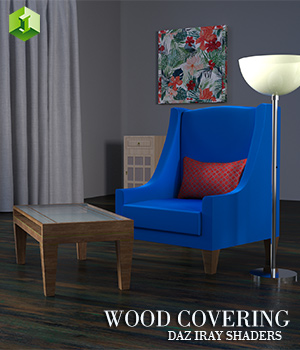 WoodCovering :: Daz IRAY Shaders 3D Figure Assets Merchant Resources Cyrax3D