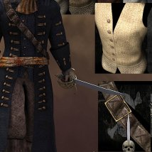 The Cap'n Outfit & Props for M4 image 5