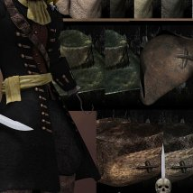 The Cap'n Outfit & Props for M4 image 6