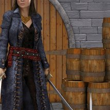 Scarlett Outfit and Props for V4 image 2