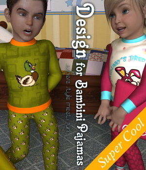 Design for Bambini Pjs 3D Figure Assets DivabugDesigns