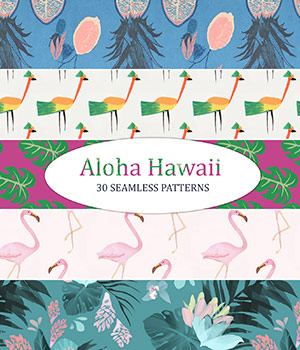 Aloha Hawaii - Seamless Patterns 2D Graphics Merchant Resources romawka