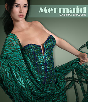 Daz Iray - Mermaid 3D Figure Assets Merchant Resources Atenais