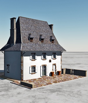 CANTAL HOUSE 3D Models Domi48