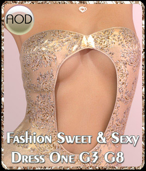 Fashion: Sweet & Sexy Dress One G3/G8 3D Figure Assets ArtOfDreams