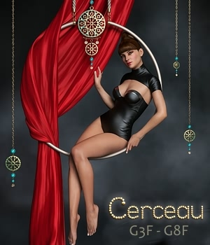Cerceau Poses & Props for G3F and G8F 3D Figure Assets 3D Models fabiana
