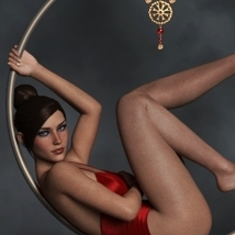 Cerceau Poses & Props for G3F and G8F image 2