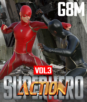 SuperHero Action for G8M Volume 3 3D Figure Assets GriffinFX