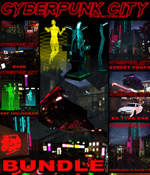 Cyberpunk City BUNDLE for DS Iray 3D Models powerage