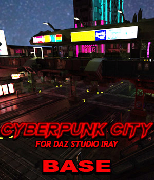 Cyberpunk City BASE for DS Iray 3D Models powerage
