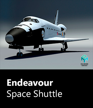 Endeavour Space Shuttle - Extended License 3D Game Models : OBJ : FBX 3D Models Extended Licenses PolyMesher