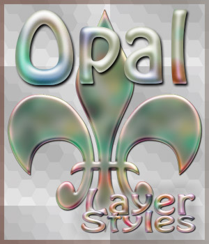 Opal Photoshop Styles 2D Graphics antje