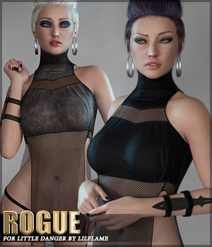Rogue for Little Danger Genesis 8 Females 3D Figure Assets Sveva